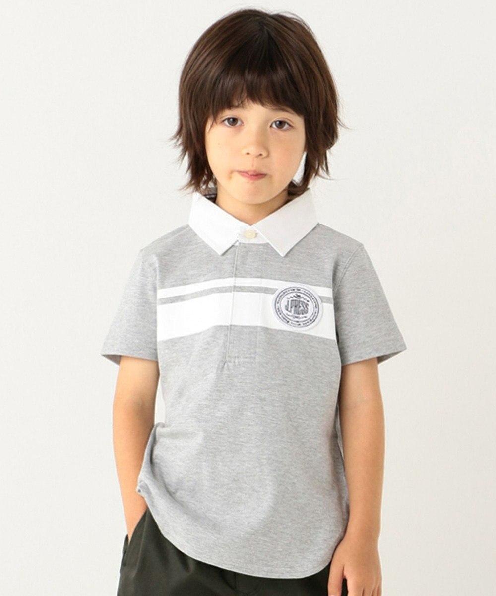 J.PRESS KIDS 【TODDLER】ラウンドテールラガー ポロシャツ ライトグレー系