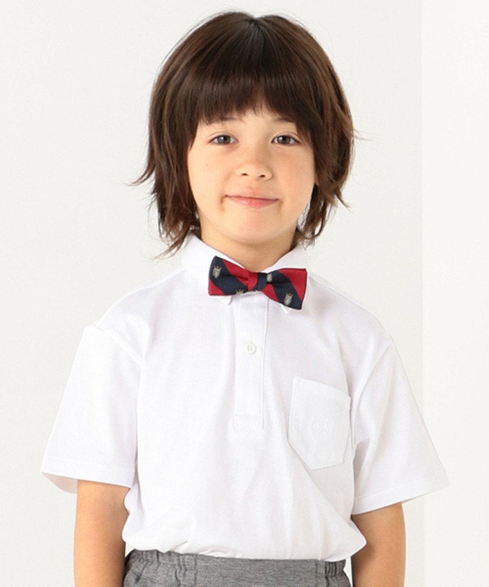 J.PRESS KIDS 【TODDLER】40/2シルケット天竺(半袖) ポロシャツ ホワイト系