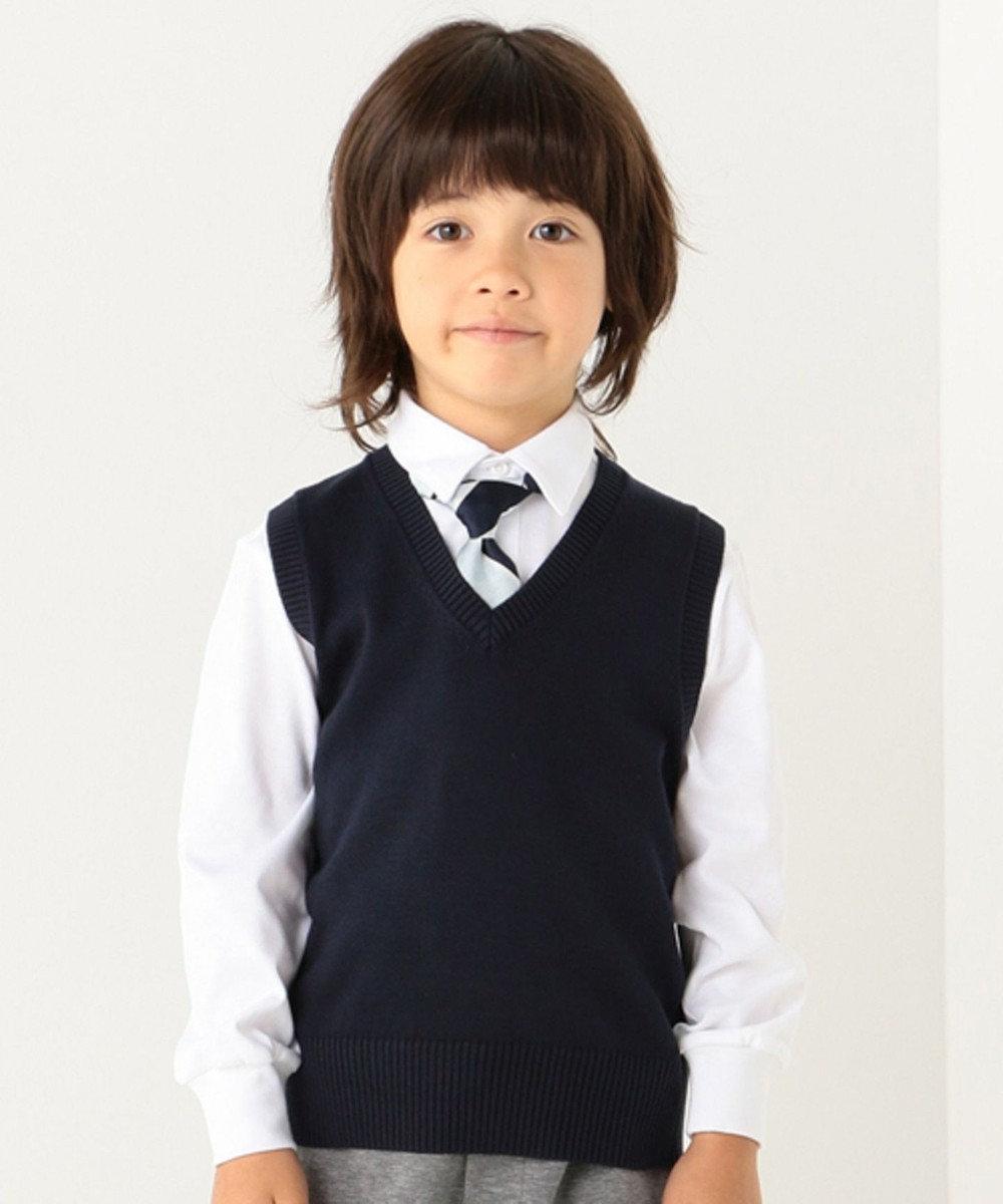 J.PRESS KIDS 【TODDLER】40/2シルケット天竺(長袖) ポロシャツ ホワイト系