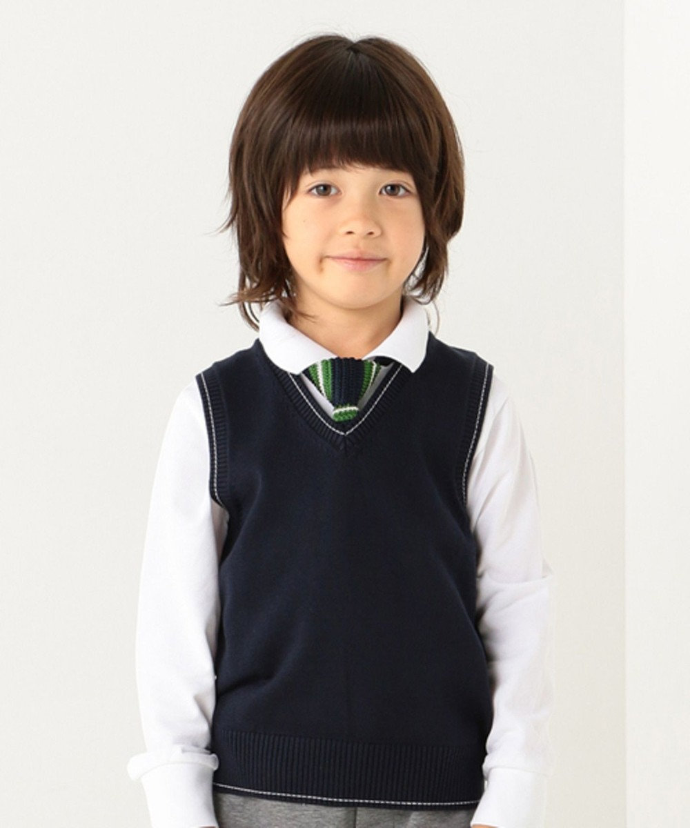 J.PRESS KIDS 【TODDLER】40/2鹿の子(長袖) ポロシャツ ホワイト系