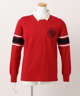 J.PRESS KIDS 【SCHOOL】ビッグエンブロラガー ポロシャツ レッド系