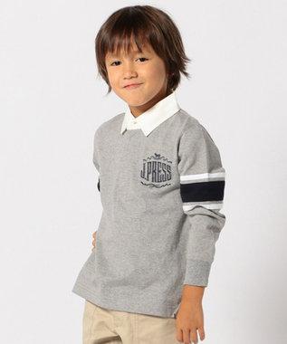 J.PRESS KIDS 【SCHOOL】ビッグエンブロラガー ポロシャツ ライトグレー系