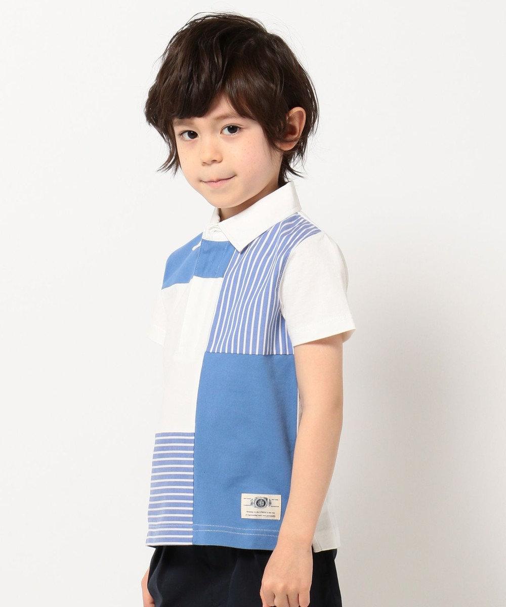 J.PRESS KIDS 【TODDLER】クレイジーパターンラガー ポロシャツ ホワイト系