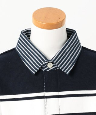J.PRESS KIDS 【TODDLER】30/10裏毛レイヤードラガー ポロシャツ ネイビー系