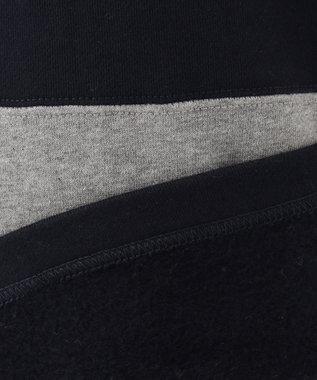 J.PRESS KIDS 【110-130cm】裏起毛 切り替えボーダー ラガーシャツ グレー系2