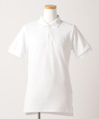 J.PRESS KIDS 【SCHOOL】40/2鹿の子 半袖ポロシャツ ホワイト系