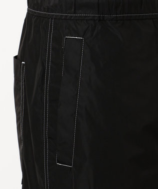 CK CALVIN KLEIN MEN 【洗える】ポリタフタ パンツ ブラック系