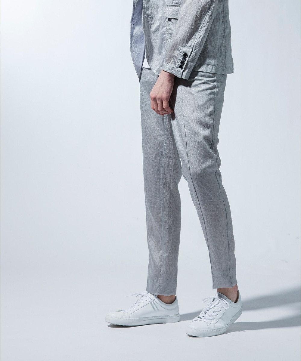 JOSEPH MEN 【超軽量素材】CITY PIN TUCK / ストレッチマイヤー パンツ ライトグレー系
