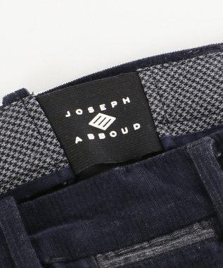 JOSEPH ABBOUD 【キングサイズ・生地もウエストも伸びる】2ウェイストレッチコール パンツ ネイビー系