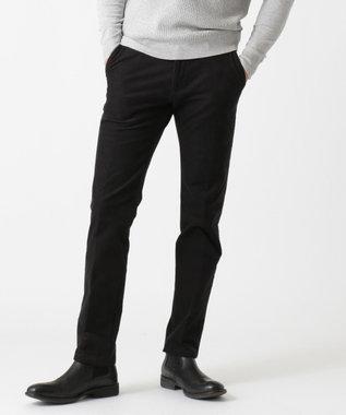 JOSEPH ABBOUD 【キングサイズ・生地もウエストも伸びる】2ウェイストレッチコール パンツ ブラック系