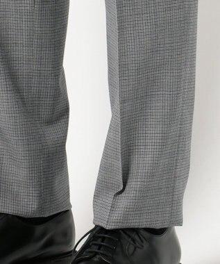 J.PRESS MEN <洗える>ウォッシャブルミニチェック パンツ ライトグレー系3