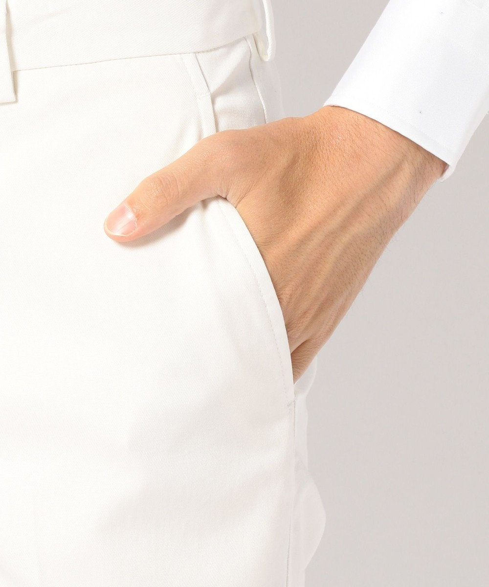 J.PRESS MEN ストレッチツイル チノ パンツ ホワイト系