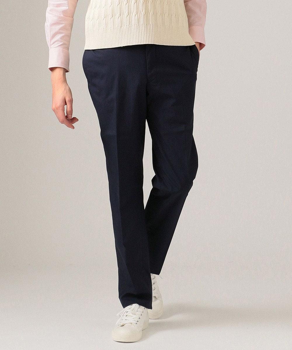 J.PRESS MEN 【数量限定】TCポプリン レギュラー パンツ ネイビー系