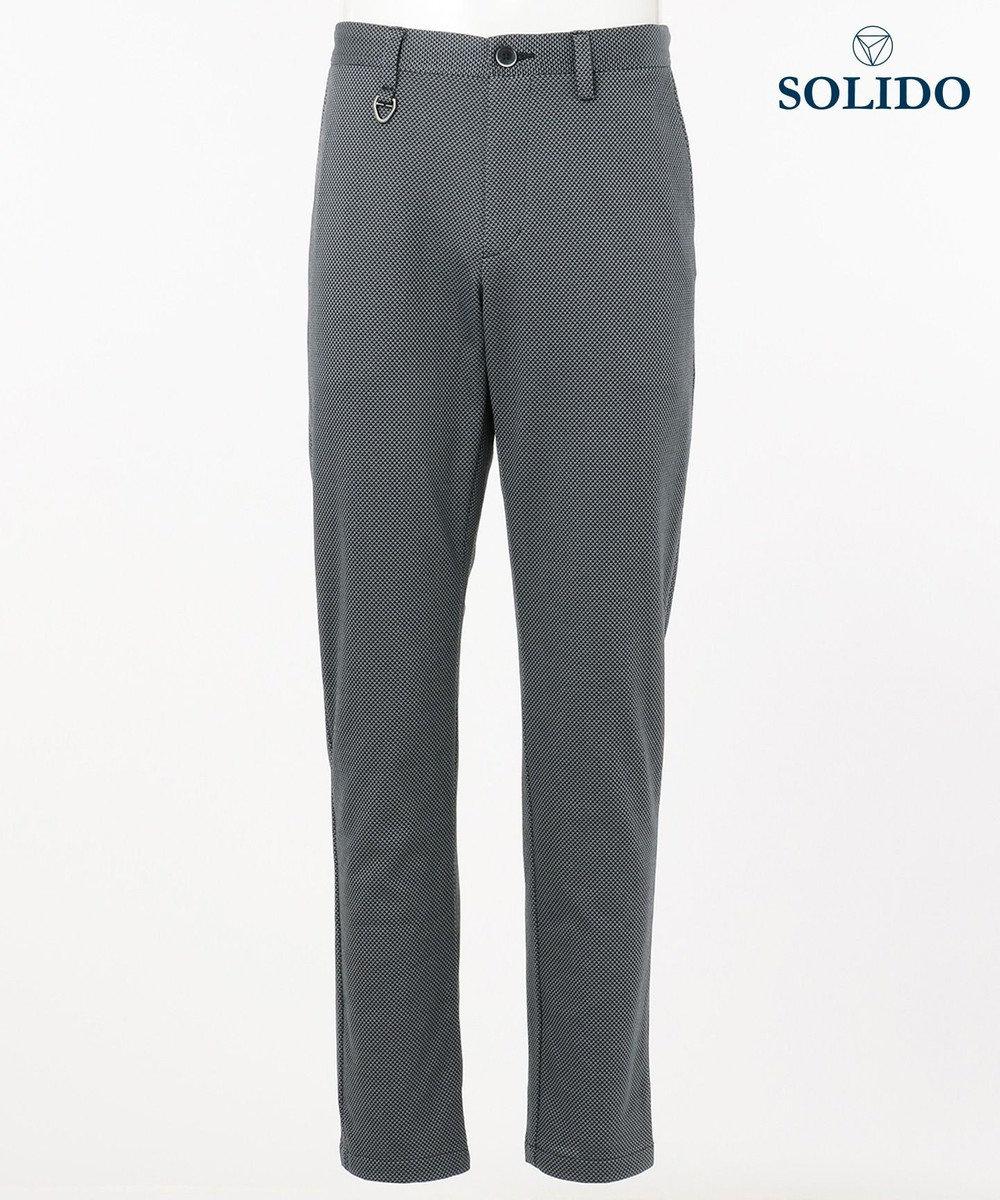 23区GOLF 【MEN】【TATRAS/SOLIDO】小紋柄パンツ グレー系