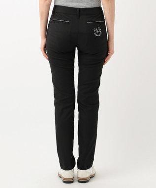 23区GOLF 【WOMEN】【ストレッチ】シェルタリングドライオックス パンツ ブラック系