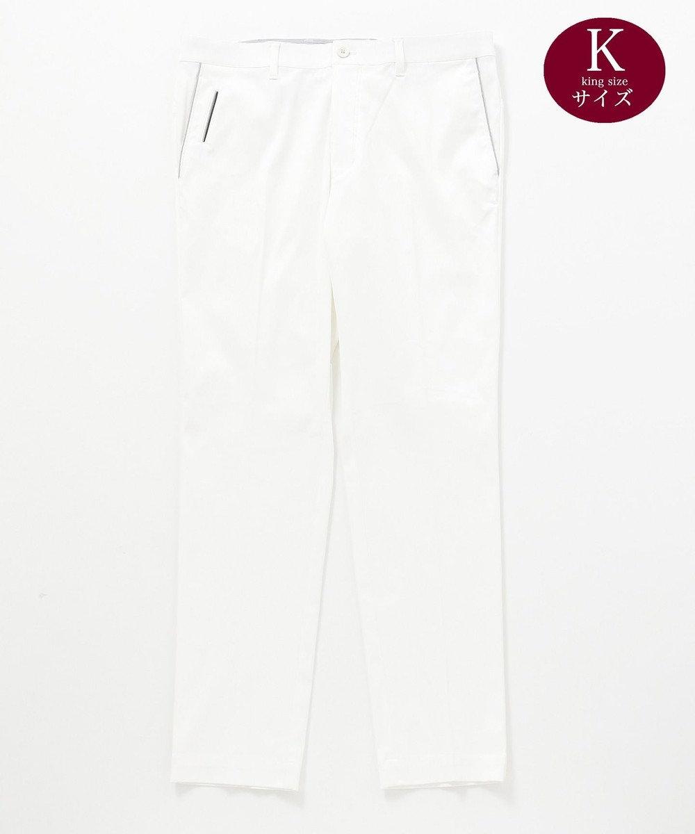 23区GOLF 【キングサイズ】ハイパワーストレッチドビー パンツ ホワイト系
