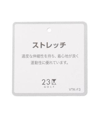 23区GOLF 【MEN】【ストレッチ】サッカー生地 シャークスキン プリント パンツ ネイビー系5