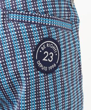 23区GOLF 【MEN】【ストレッチ】タッタソール柄プリント パンツ ネイビー系3