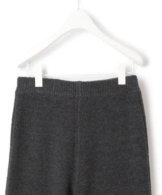 ICB 【洗える】ブークレニット パンツ グレー系