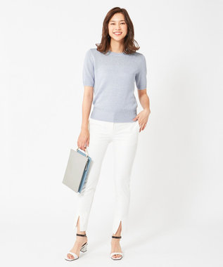 ICB 【驚きの伸縮性】Cotton Spandex パンツ ホワイト系