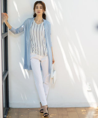 ICB L 【秋の新色登場!】Super Stretch Thread パンツ ホワイト系