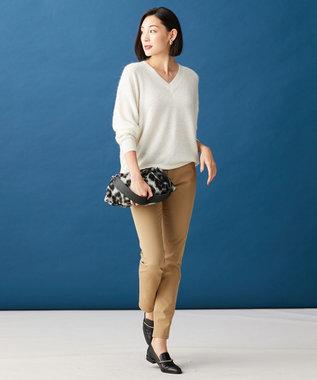 ICB L 【秋の新色登場!】Super Stretch Thread パンツ キャメル系