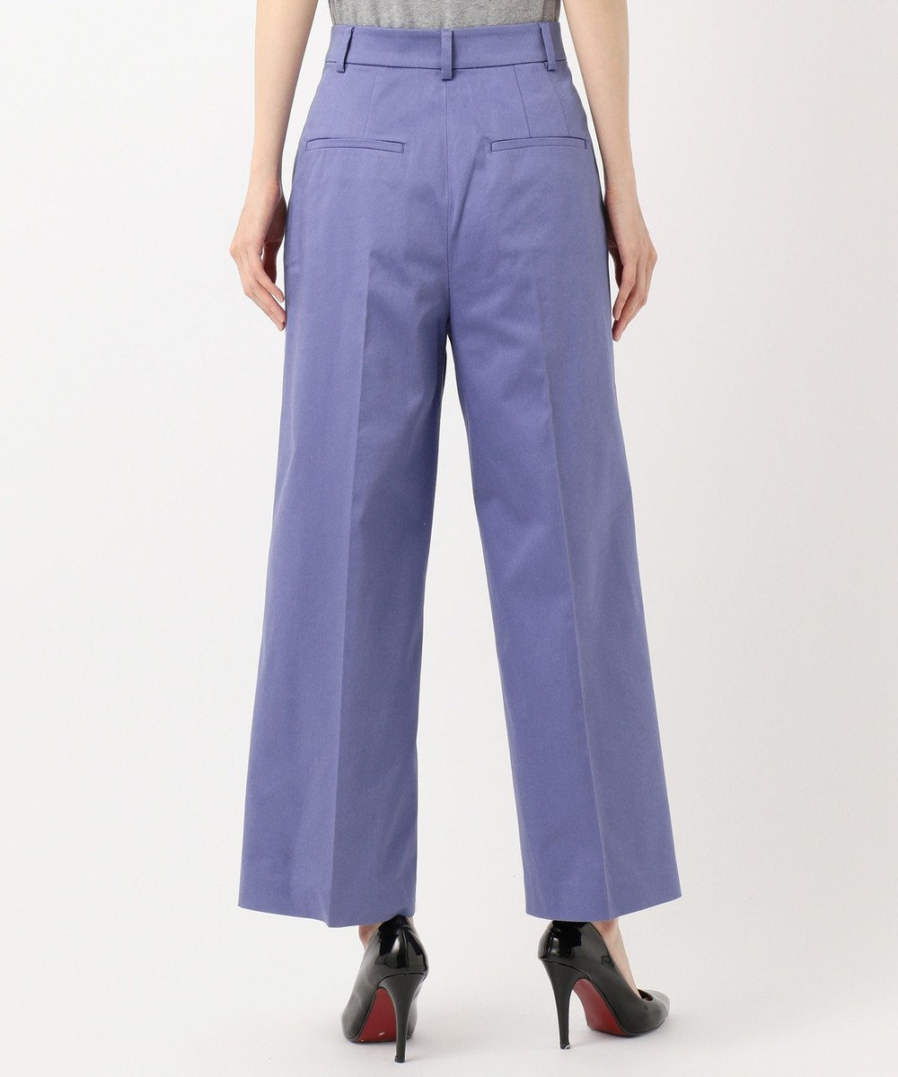 ICB L 【ストレッチ】Cotton Mix Stretch ワイド パンツ ダルブルー系
