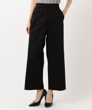ICB L 【ストレッチ】Cotton Mix Stretch ワイド パンツ ブラック系