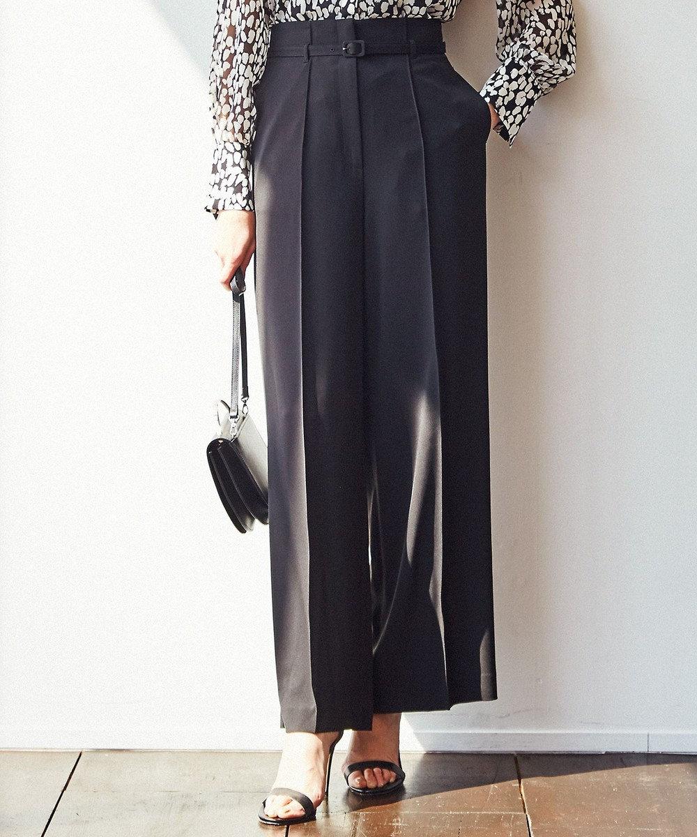 ICB 【セットアップ】Fied ロングワイド パンツ ブラック系