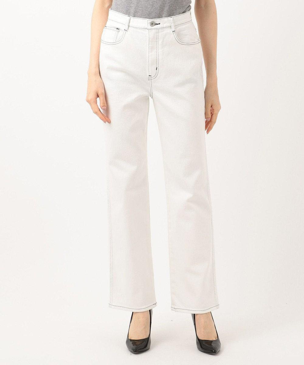 ICB 【洗える】White デニムパンツ ホワイト系