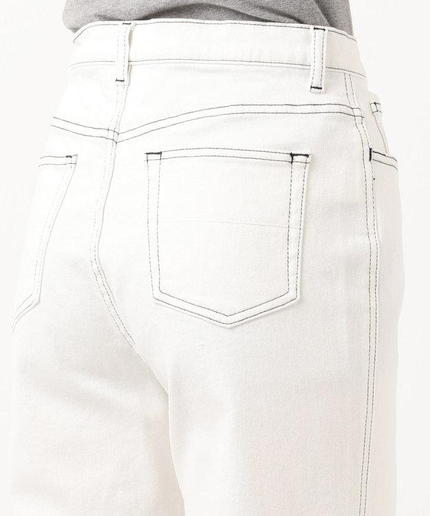 ICB 【洗える】White デニムパンツ