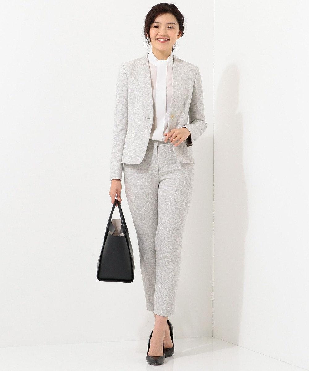 ICB L 【店頭売れ筋】Silk Nep Tweed パンツ ライトグレー系