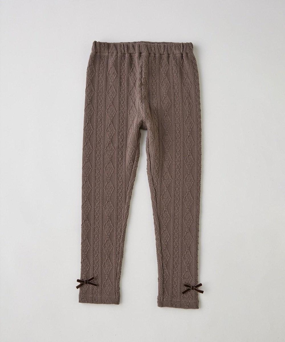 any FAM KIDS 【90-130cm】ケーブルニット レギンス ブラウン系