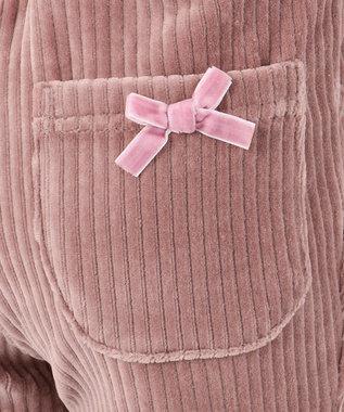 any FAM KIDS 【90-130cm】ニットコール リボン付き パンツ オールドローズ系