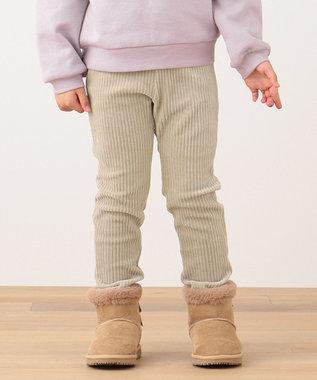 any FAM KIDS 【90-130cm】ニットコール リボン付き パンツ ベージュ系