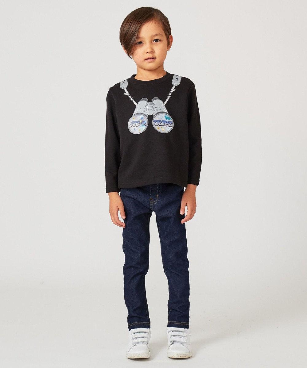 any FAM KIDS 【BOYS/90~130cm】アジャスター付きストレッチツイル パンツ ネイビー系