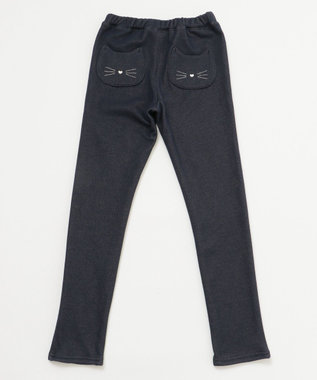 any FAM KIDS 【140-150cm】裏シャギー ネコポケット パンツ ネイビー系