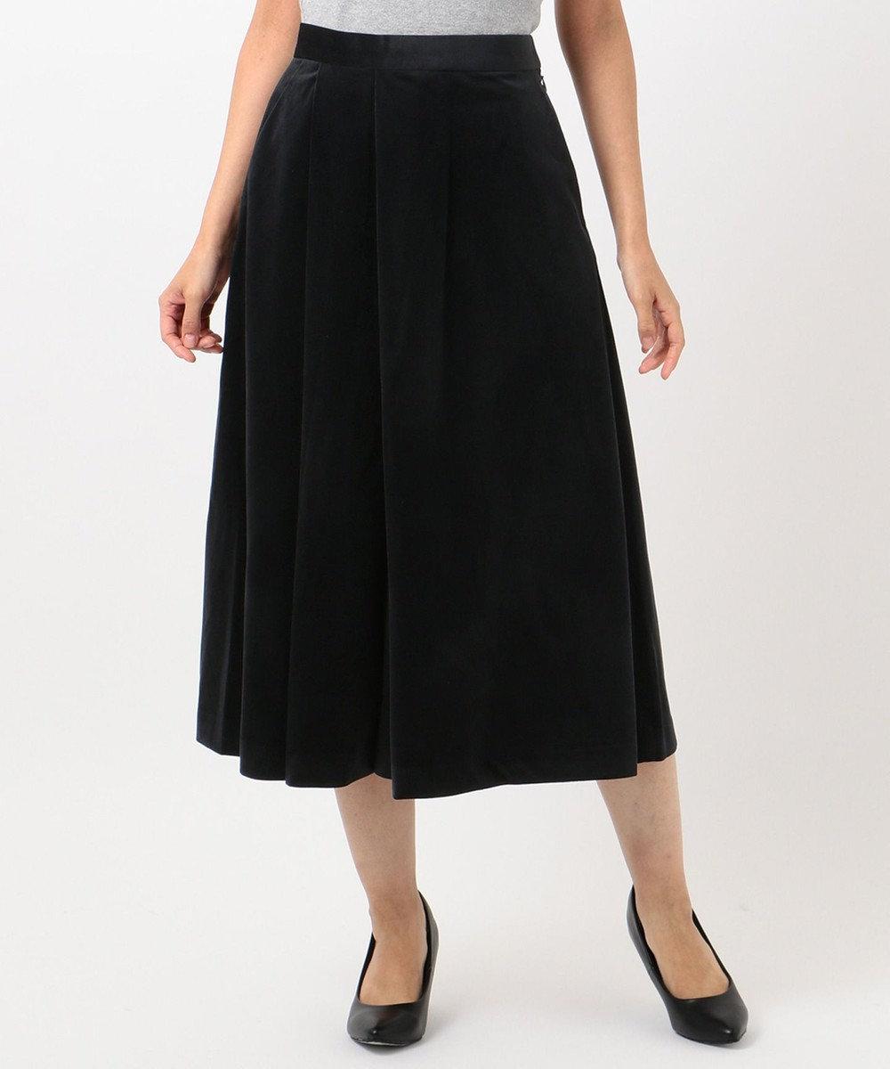 any FAM エステルベロア パンツ ブラック系