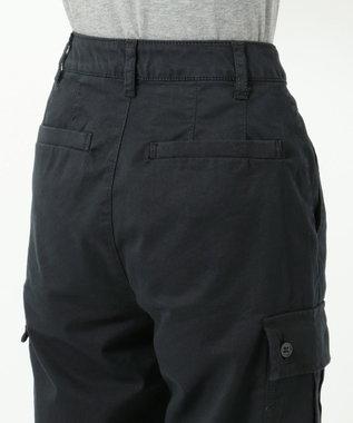 any FAM 【洗える】バイオウォッシュチノ ベイカーパンツ ブラック系