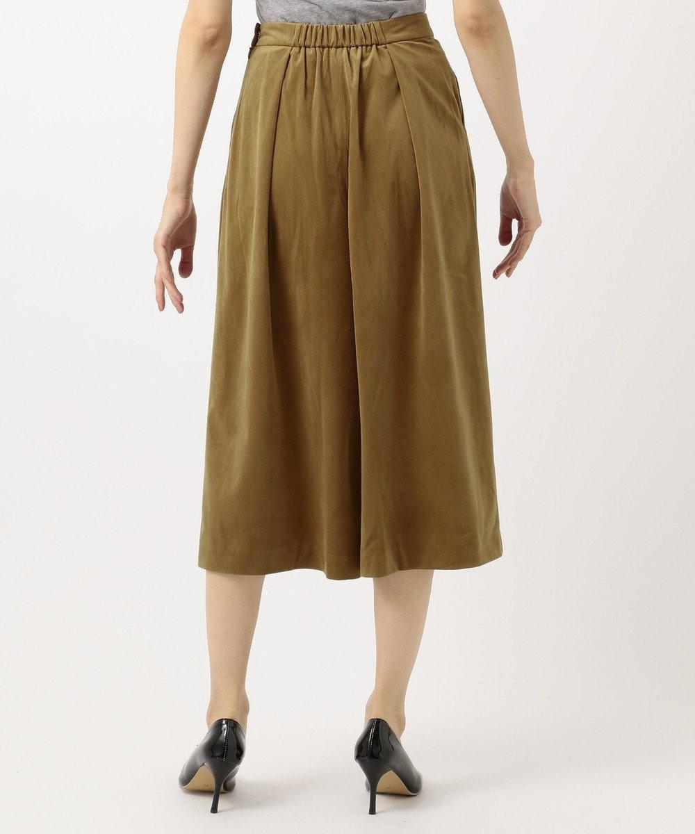 any FAM 【洗える】エステルカルゼベロア パンツ キャメル系