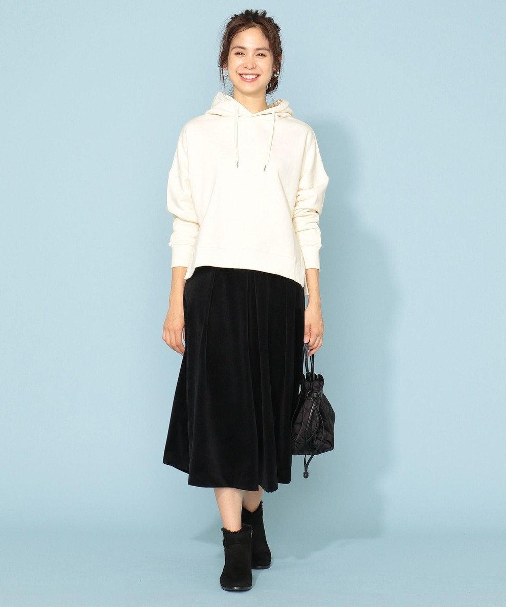 any FAM 【洗える】エステルカルゼベロア パンツ ブラック系