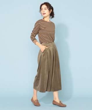 any FAM 【洗える】エステルカルゼベロア パンツ ブラウン系