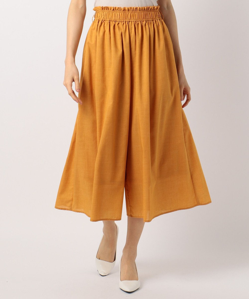 any FAM 杢調フレア ワイドパンツ オレンジ系