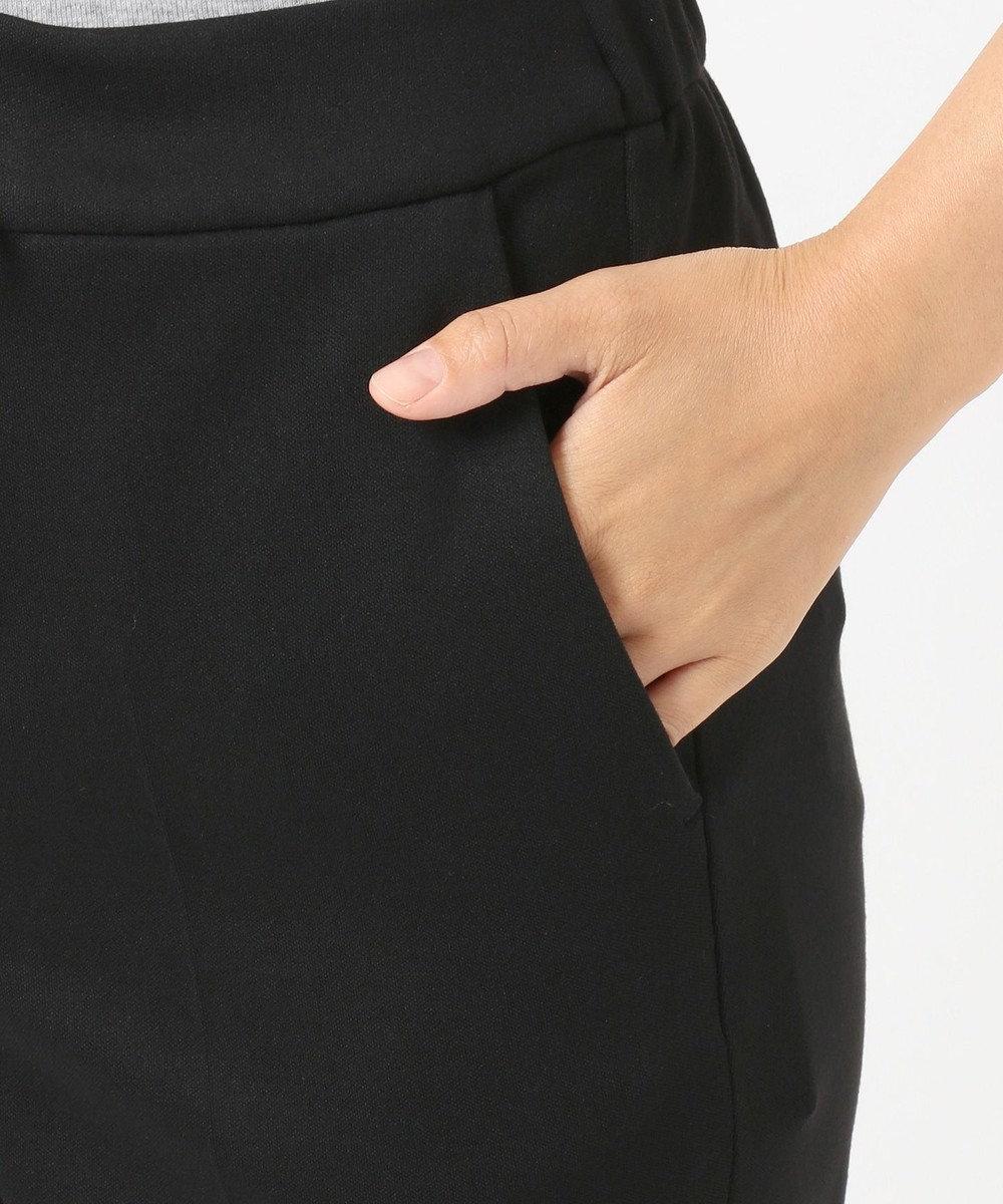 J.PRESS LADIES L 【洗える】デュアルウォームモクロディ パンツ ブラック系