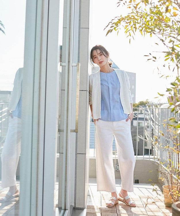 J.PRESS LADIES 【驚異の伸縮率】8.5オンスストレッチデニム ワイドパンツ