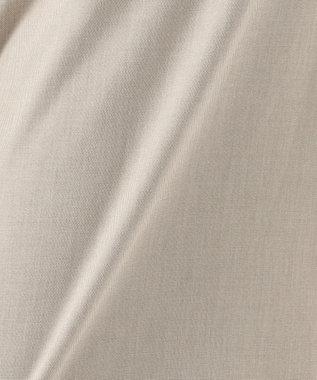 J.PRESS LADIES 【シワになりにくい】コットンフィッティーシャーク ワイドパンツ ベージュ系