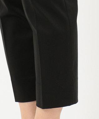 J.PRESS LADIES 【洗える】サテンストレッチ パンツ ブラック系