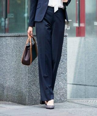 J.PRESS LADIES S 【スーツ対応】BAHARIYE パンツ ネイビー系1