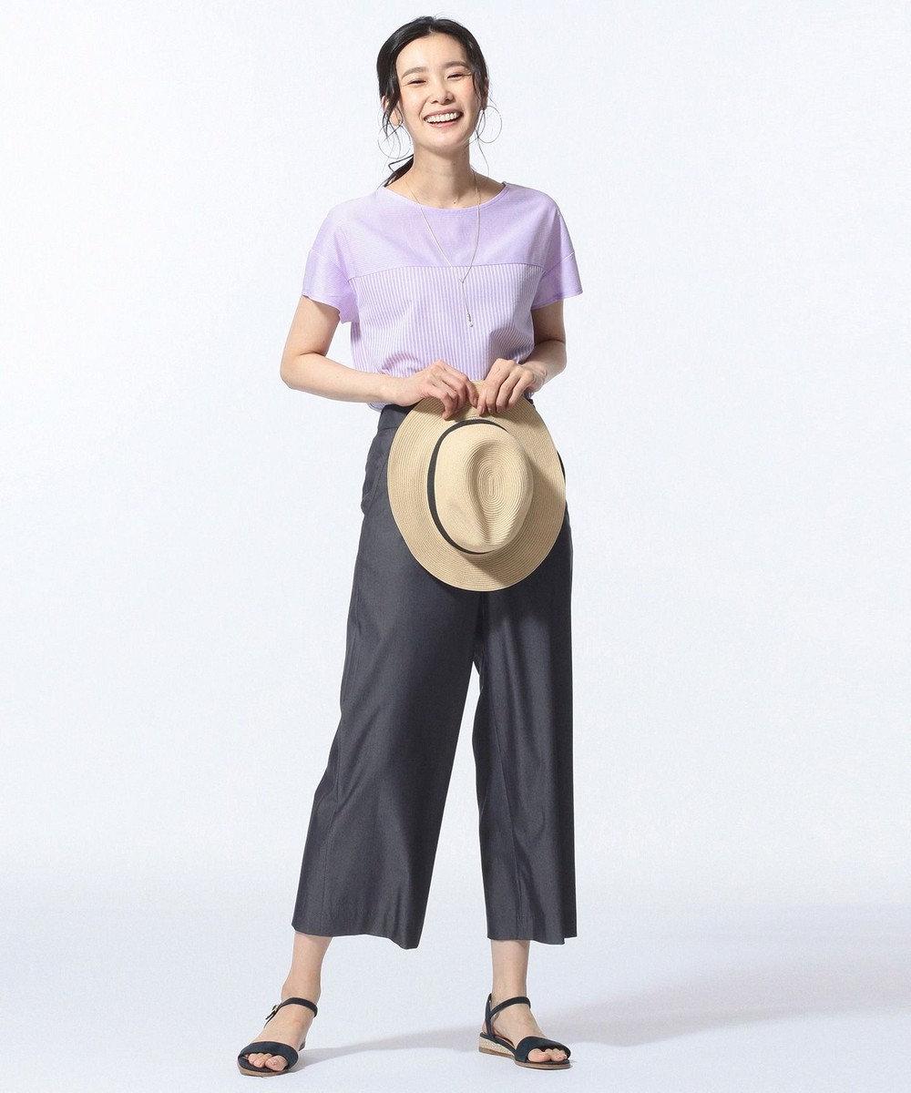 J.PRESS LADIES 【色落ちしにくい】TENCEL DENIM パンツ ネイビー系