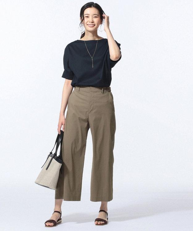 J.PRESS LADIES S 【洗える・軽量】コットンナイロンシルキーローン ワイドパンツ